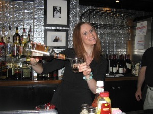 Tending bar at Maddy's Pub in Washington, DC, May 2010 as part of my fundraising efforts for the Leukemia and Lymphoma Society's Team in Training