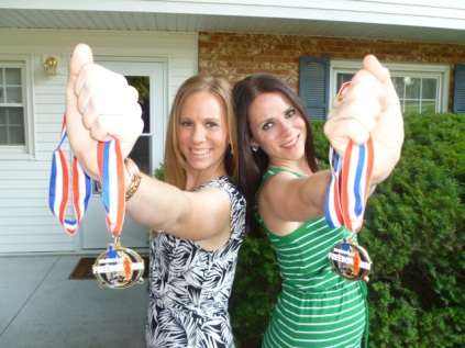 My sister Lauriel and me, Brownville Freedom Run Half-Marathon finishers, Bellevue, NE July 2013