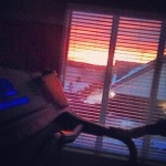 Spectacular sunset as seen from my treadmill.