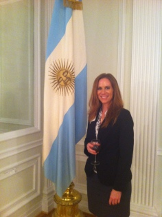 At a Congressional reception at the Embassy of Argentina, June 2011
