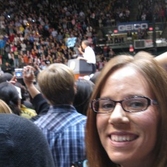 At a Presidential rally the day before the signing of the Affordable Care Act, March 2010