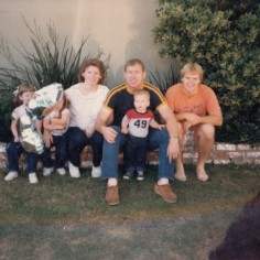 Mom, Papa, sister Lauriel, me, brother Joel, and unborn brother Caleb in Bakersfield, California June 1985