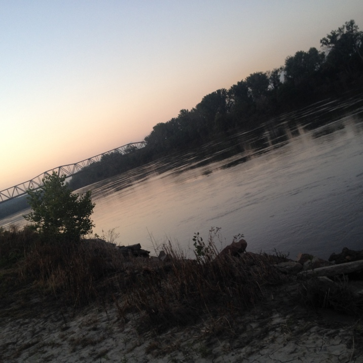 Walking along the Missouri River