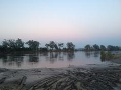 Walking along the Missouri River