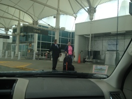 Picking up my dad and sister at DIA