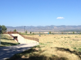 Gorgeous view of the mountains along my 5-mile route