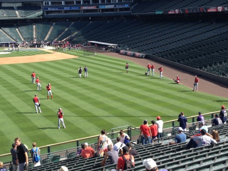Nationals at batting practice