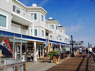 The boardwalk at Bethany Beach, Delaware