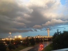Storm clouds over DCA