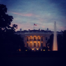 White House on a calm September 11, 2014 evening.
