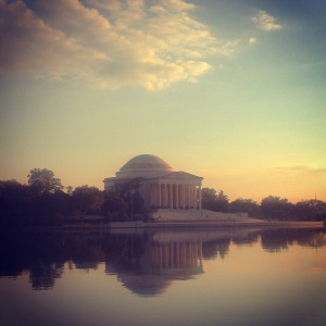 Calm evening by the Tidal Basin
