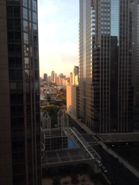 Good morning, Chicago! View from our room on the 18th floor