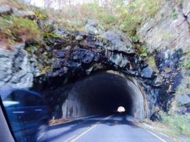 Tunnel at Thornton Gap heading toward Charlottesville, Virginia