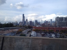 View of Chicago from the Orange Line