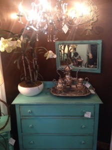 "Gorgeous antiques. My idea of my so-called ""tailored shabby chic"" style."
