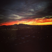 Sunrise from my hotel room