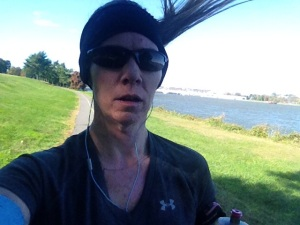 I don't always post pretty pics of me running....this wind was bonkers!!
