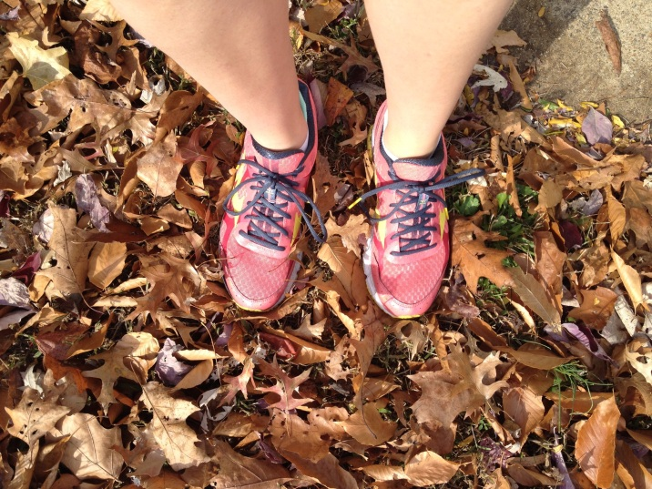 Obligatory running shoes in leaves shot