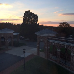 Sunset from Monroe Hall