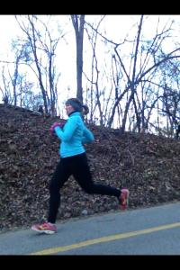 Finishing an 8-miler, which made 66.5 miles in January.