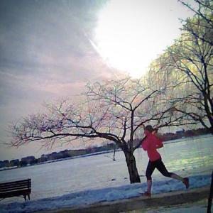 Running along the Potomac River