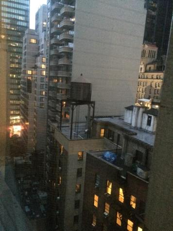 View from my room. Good night, NYC! At 7PM...
