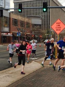 Kristine in the last .1 miles