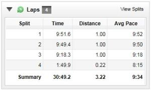 First 5K splits
