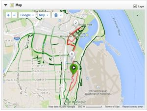 Crystal City 5K Fridays course with laps