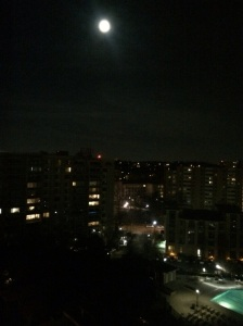 The moon outside my Crystal City apartment
