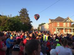 Hot air balloon fly-over