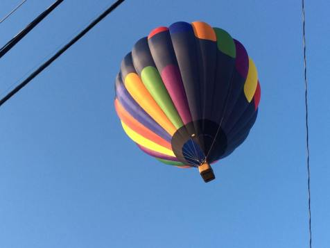 National Anthem with a hot air balloon flyover should always happen!