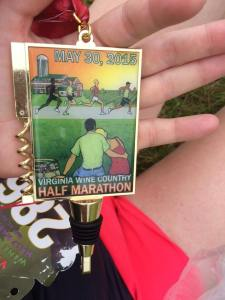 Virginia Wine Country Half-Marathon Medal