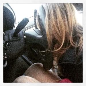Steering wheel nap.