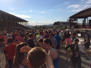 Starting line of the Twighlight 5K