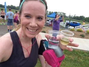 I stopped for white wine at mile 6!