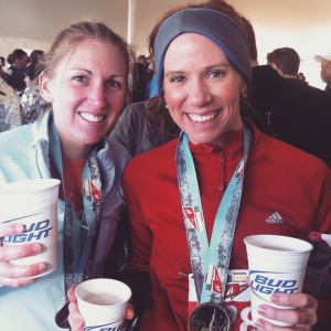 At the post-race festival of the 2011 inaugural Annapolis Running Classic Half-Marathon