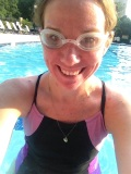 Pool running! It had thunderstormed about an hour before I got in the pool. Weird.