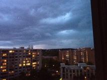 Second thunderstorm Monday evening.