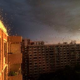 Post-storm glow