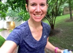 Felt like a badass running in the rain!