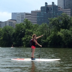Paddling by Rosslyn