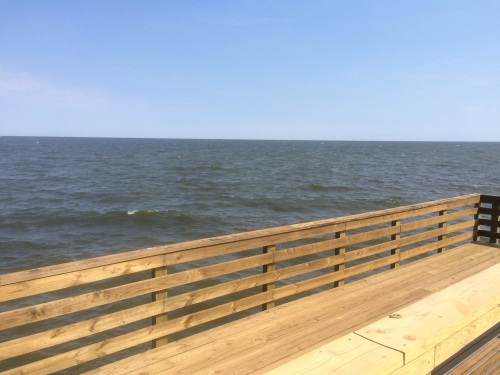 The fishing pier at North Beach on the Chesapeake Bay.