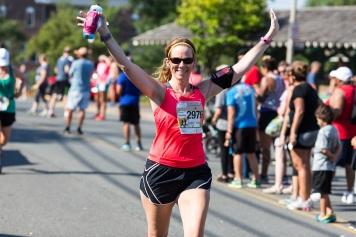 Finishing the August 2015 Leesburg 20K