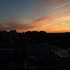 Enjoyed the lingering sunset from my rooftop