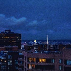 Post-rain evening sky