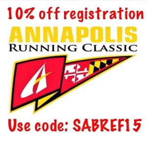 Did Hurricane Joaquin cancel your race this weekend? Sign up for the Annapolis Running Classic! Get 10% off with this code: SABREF15