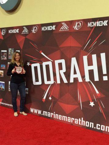 On October 25, I ran the 2015 Marine Corps Marathon in 4:38!