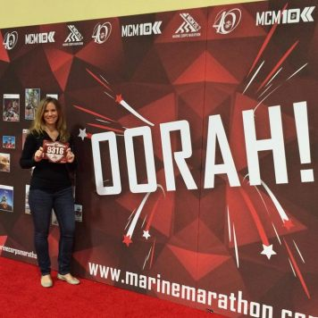 On October 25, I ran the 2015 Marine Corps Marathon in 4:38!