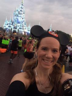At mile 6 of the Mickey Mouse Marathon